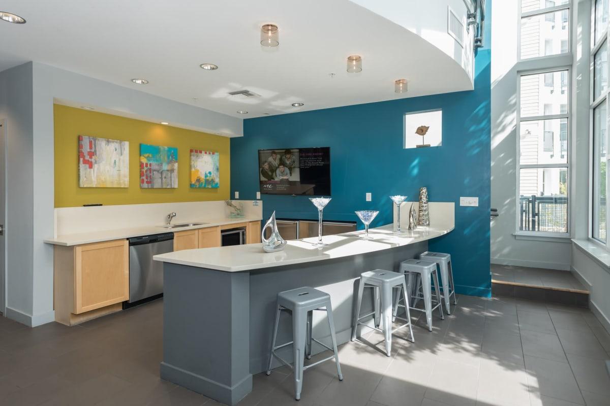 Clubhouse kitchen at Indigo 19 in Virginia Beach, Virginia
