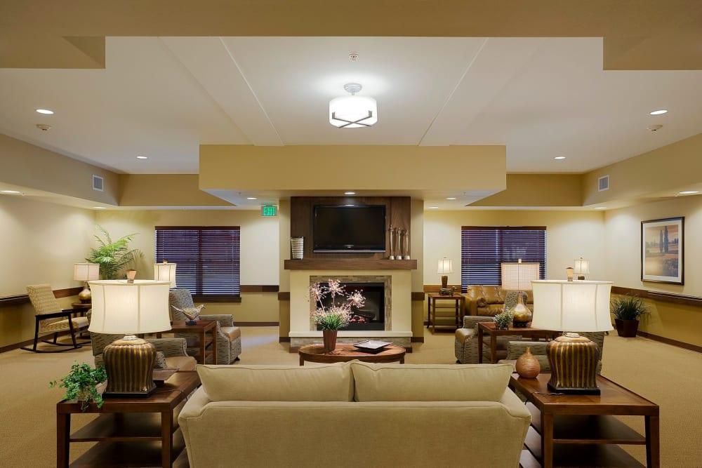 Comfortable lounge area at The Springs at Tanasbourne in Hillsboro, Oregon