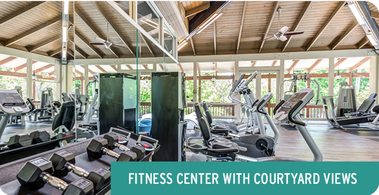 State-of-the-art fitness center at Rancho Los Feliz in Los Angeles, California