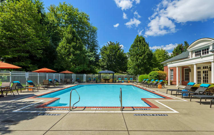Gorgeous swimming pool area at Christopher Wren in Wexford, Pennsylvania