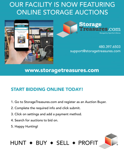 Online Auctions from Global Self Storage in West Henrietta, New York