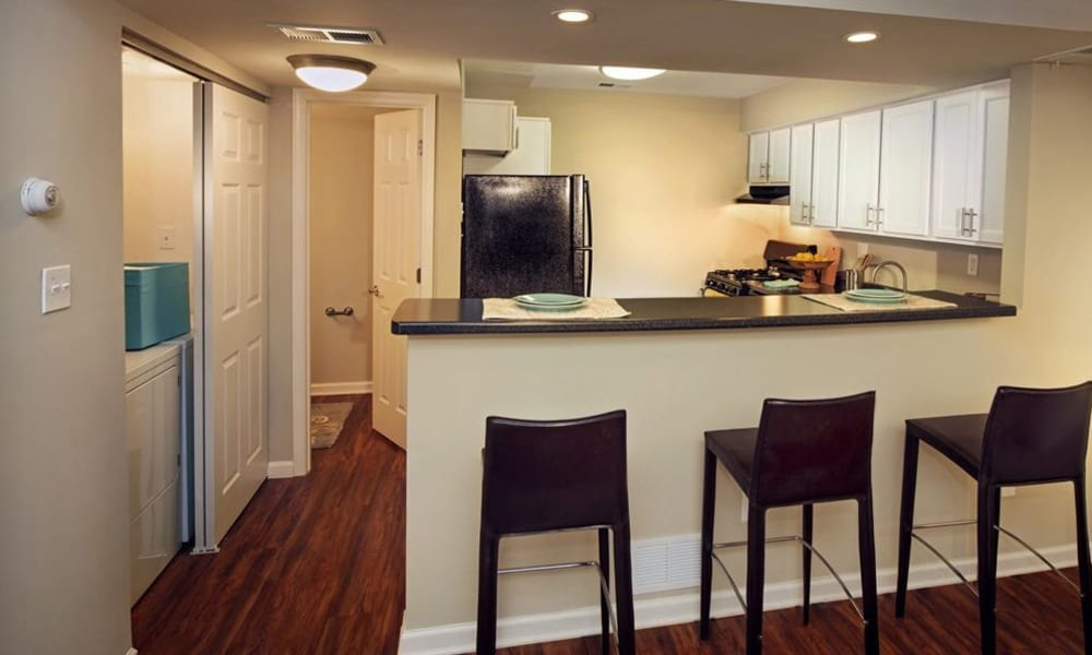 Kitchen with plenty of counter space at Nineteen North Apartments in Pittsburgh, Pennsylvania
