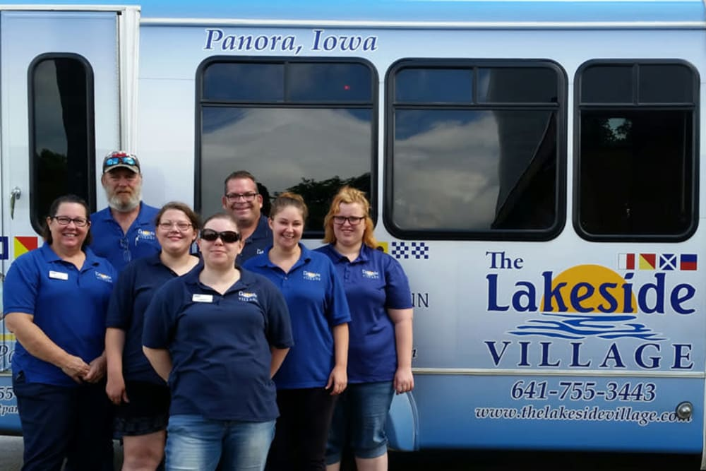 The activity bus at The Lakeside Village in Panora, Iowa.