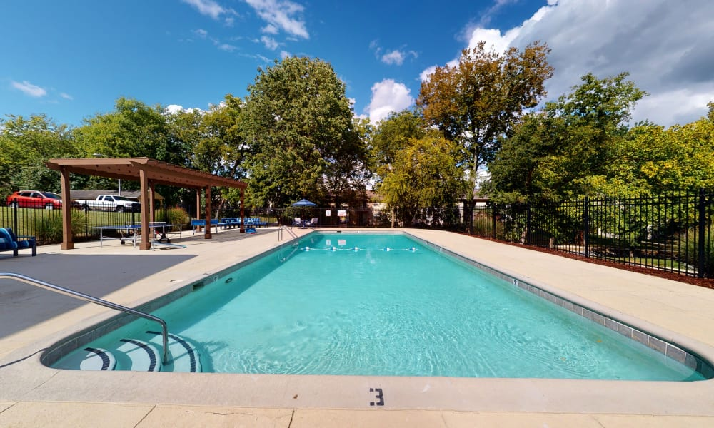 Lounge by the pool at The Residences at Stonebrook in Nashville, Tennessee