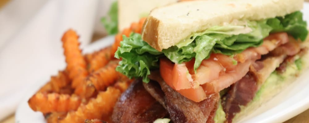 Fresh sandwich and french fries made at The Springs at Mill Creek in The Dalles, Oregon