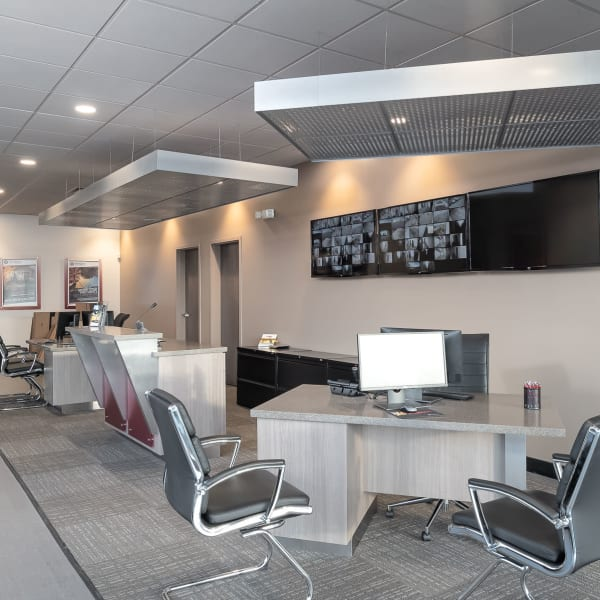 Interior of the office at StorQuest Self Storage in Los Angeles, California