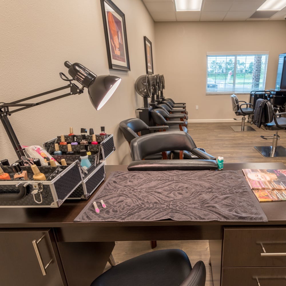 onsite hair salon at Inspired Living Kenner in Kenner, Louisiana.