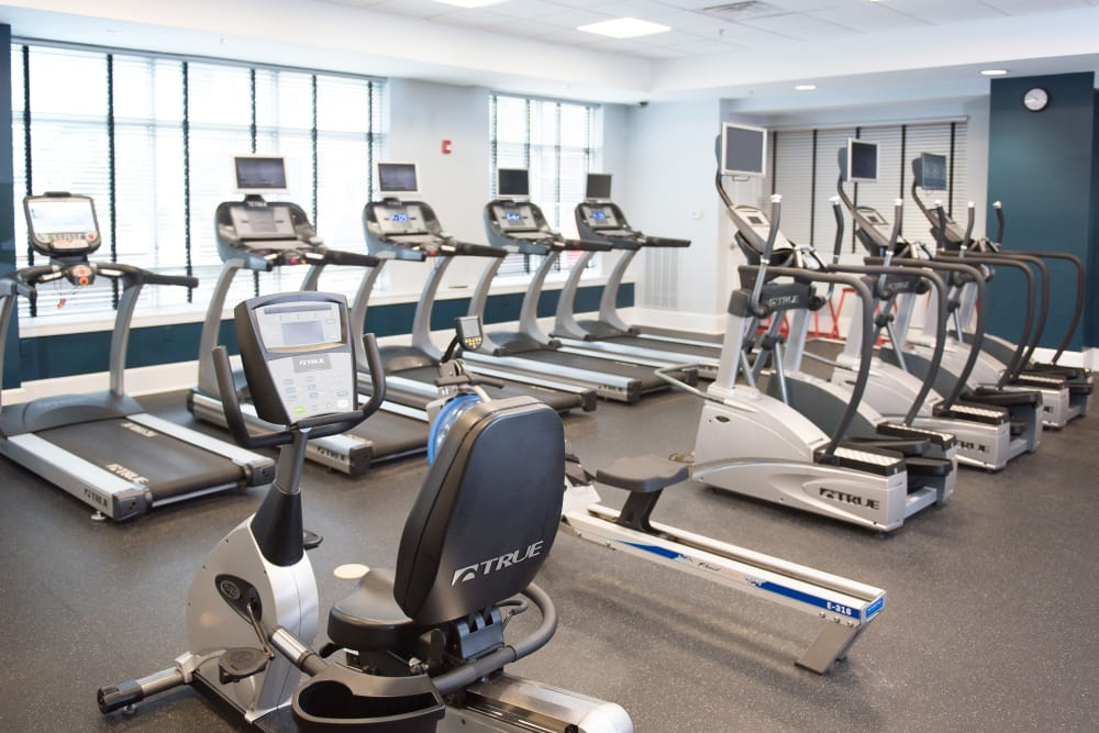 Fitness center at Manor Six Forks in Raleigh, NC