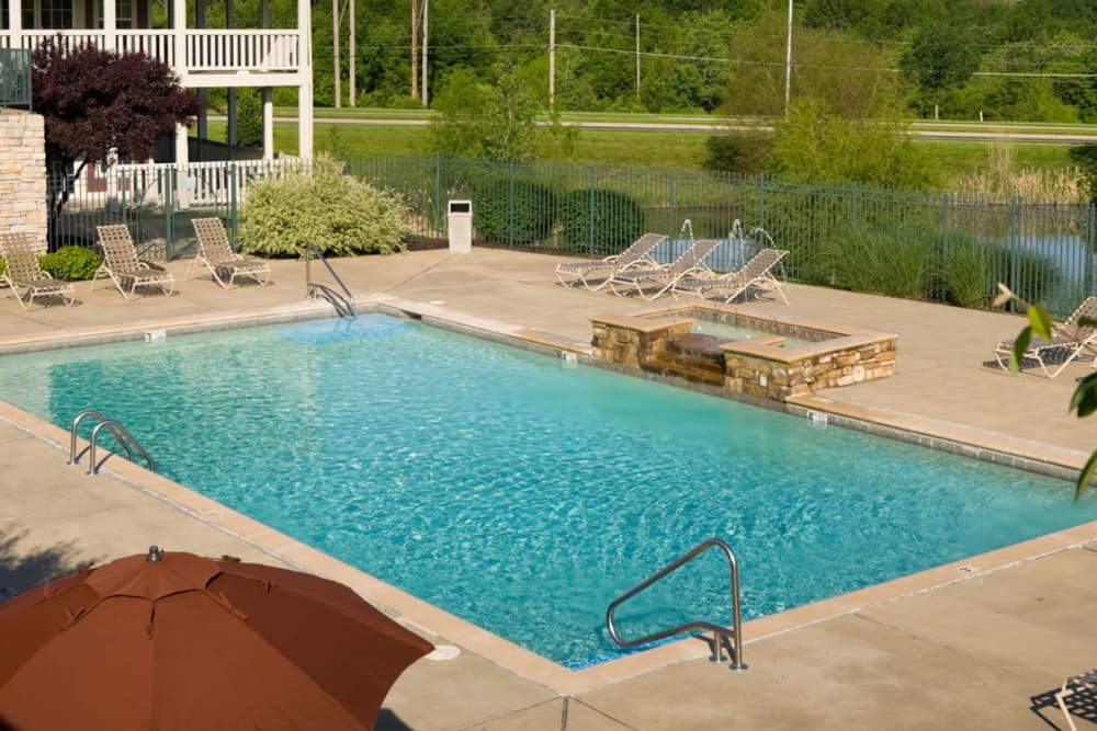 Saltwater swimming pool at Timber Lakes Apartment Homes in Kansas City, Missouri