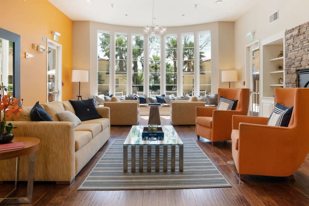 Large lounge area with comfortable chairs at Park Central in Concord, California