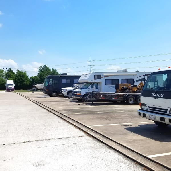 Outdoor RV, boat, and auto parking at StorQuest Self Storage in Sanford, Florida