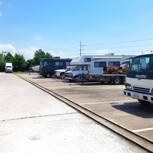 RV, boat, and auto parking spaces at StorQuest Self Storage in Tampa, Florida