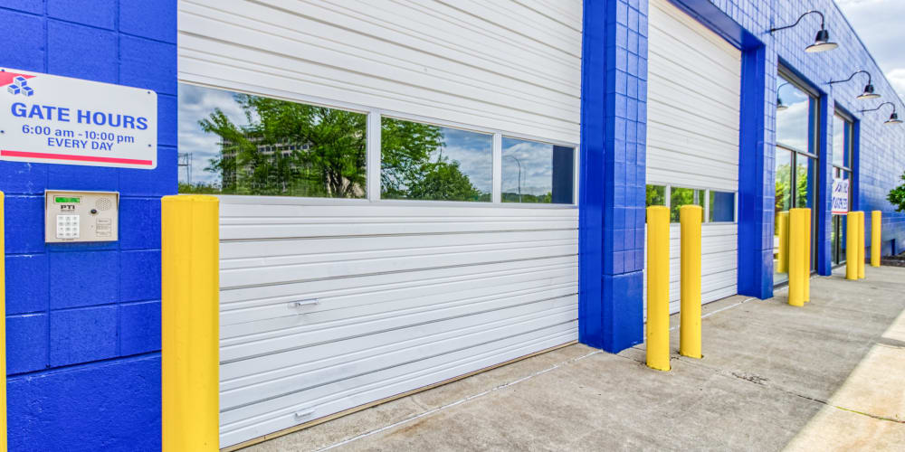 Fold up doors at Devon Self Storage in Cincinnati, Ohio