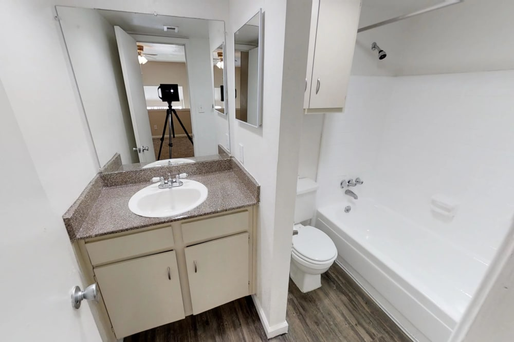Modern bathrooms at Falls of Maplewood Apartments