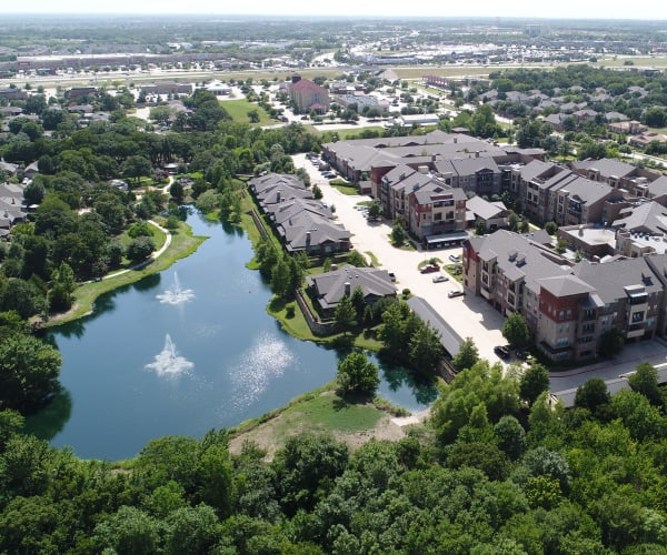 An aerial view of a property managed by Integrated Real Estate Group, based in Southlake, Texas