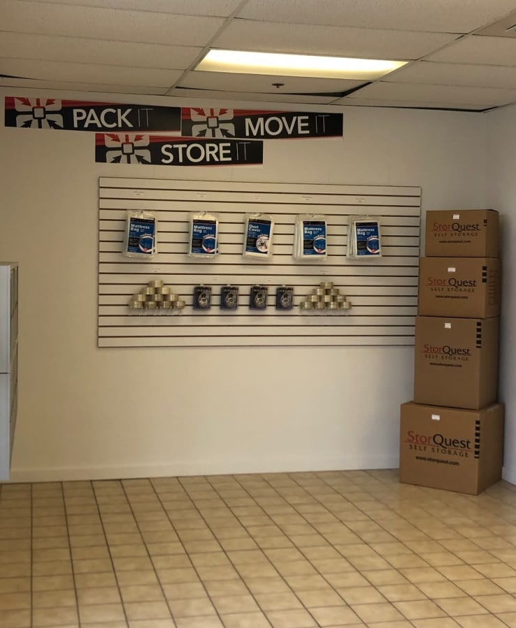 Packing supplies available at StorQuest Self Storage in Hilo, Hawaii