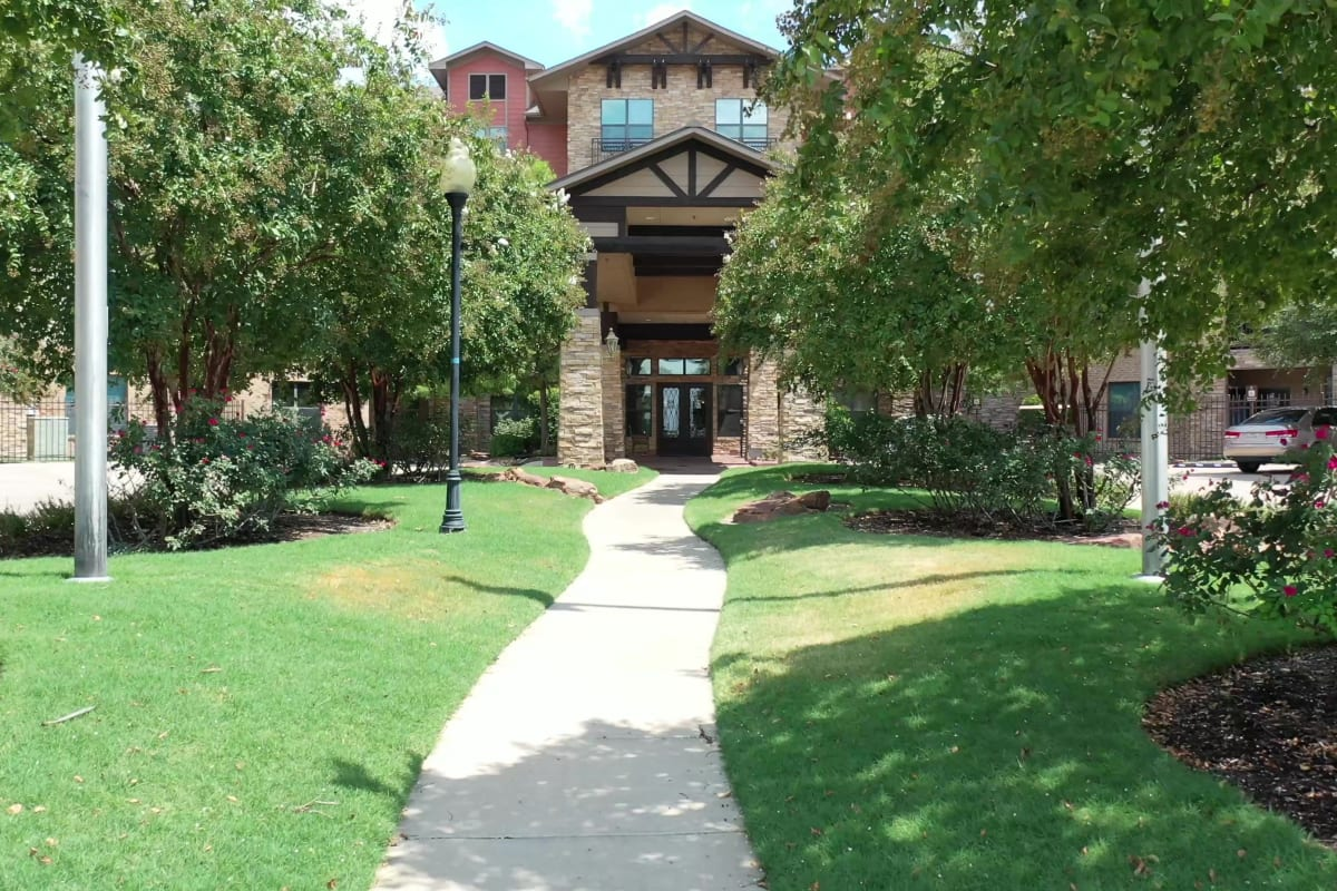 The library at Watercrest at Bryan in Bryan, Texas
