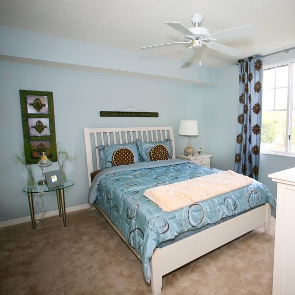 Master bedroom layout at Green Cay Village in Boynton Beach, Florida