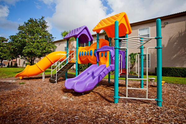 Community playground at Legends Lake Mary in Lake Mary, Florida
