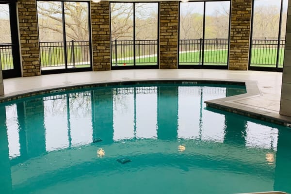 Our indoor swimming pool is a terrific place to exercise at The Fairways of Ironhorse in Leawood