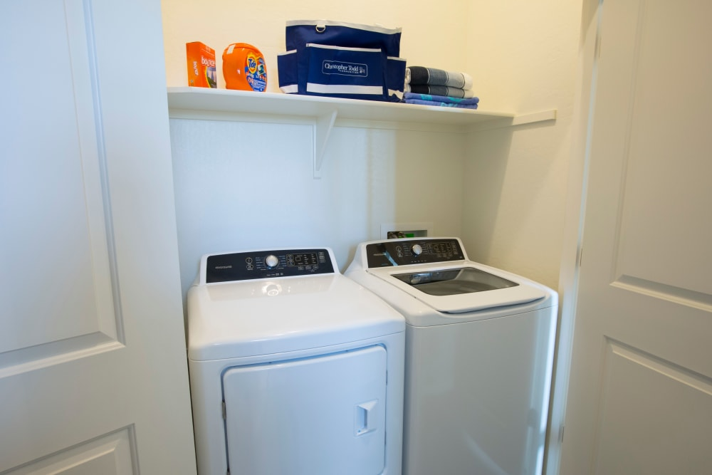 In home washer and dryer at BB Living at Eastmark in Mesa, Arizona
