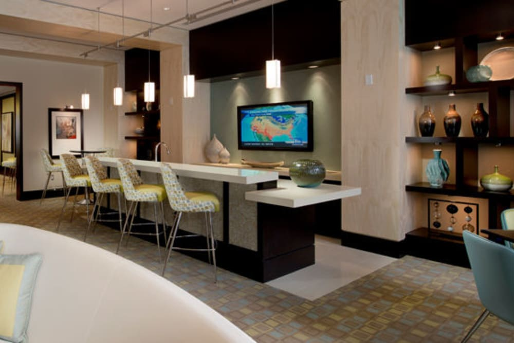 A spacious and modern clubhouse at Solaire 1150 Ripley in Silver Spring, Maryland