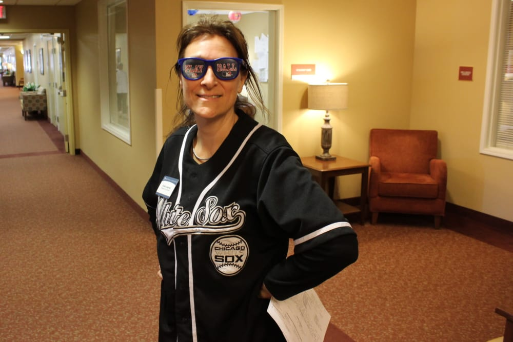 Active living director at The Oaks in the spirit of baseball