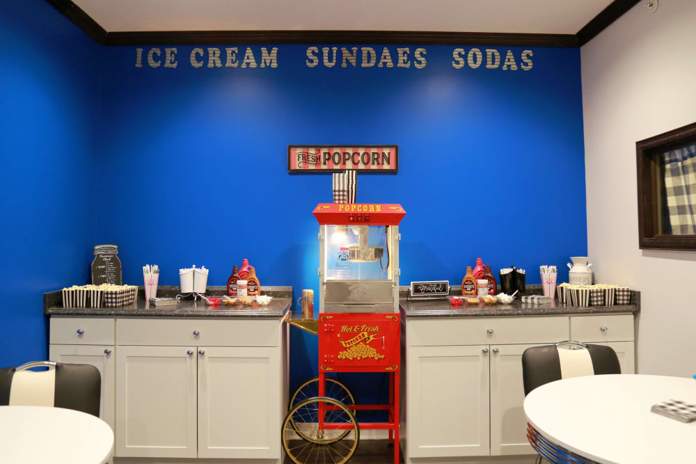 Soda shoppe features at The Heritage at Legacy
