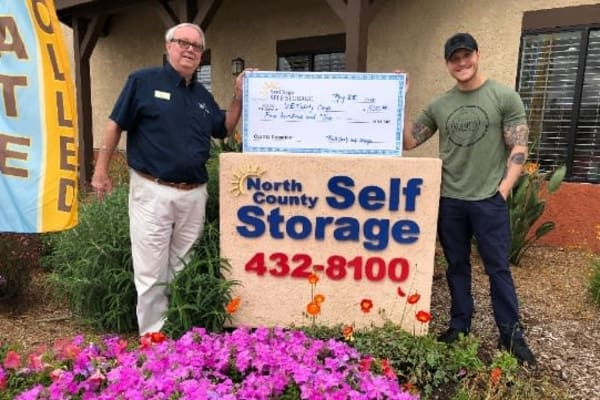 Click here to see North County Self Storage's charitable contributions