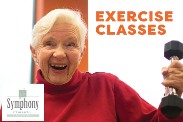 Senior exercising at Symphony at Cherry Hill