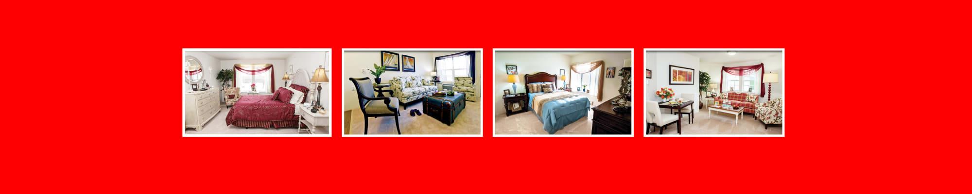 Floor plans at Capitol Ridge Gracious Retirement Living in Bristow, Virginia