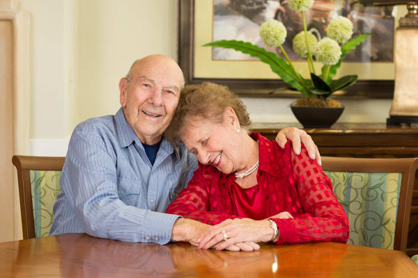 Senior couple at Las Soleras Senior Living in Santa Fe, New Mexico