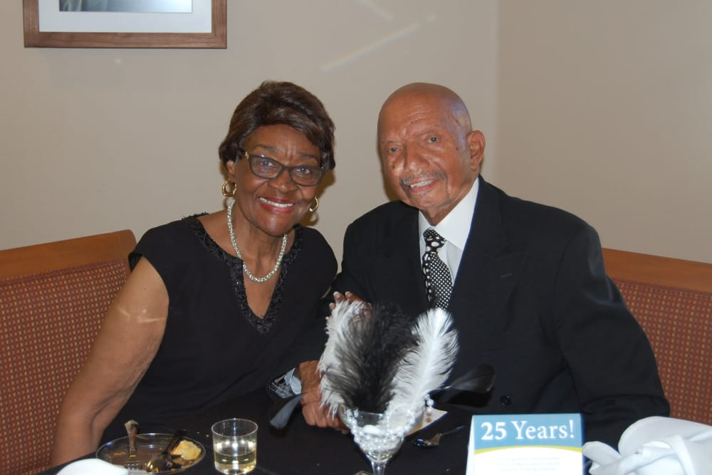 Resident couple at the Black and White Jazz Soiree