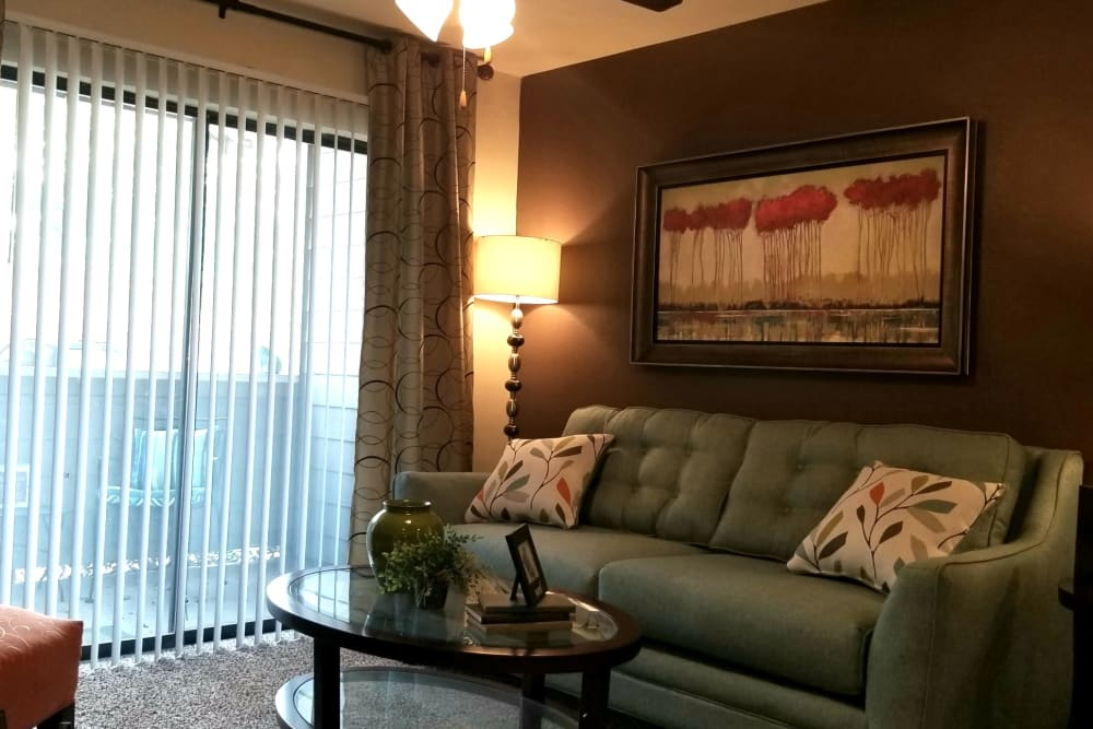 Our apartments in North Richland Hills, Texas have a cozy living room