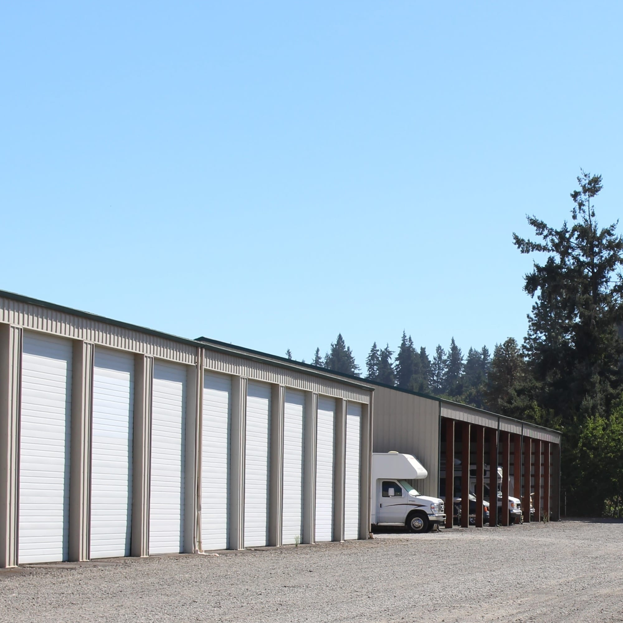 Covered RV storage at South Salem RV & Storage in Salem