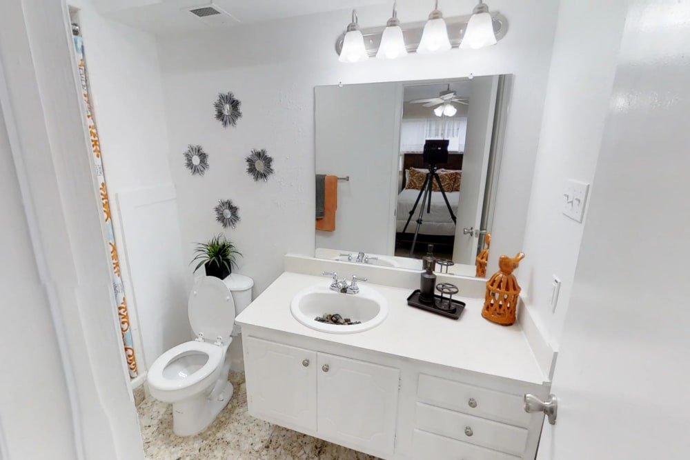 Master Bathroom at Palms at Chimney Rock Apartments in Houston, Texas