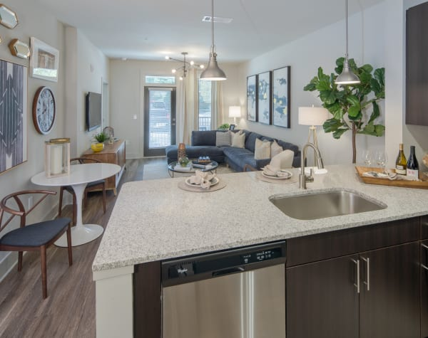 Bright, fully equipped kitchen at Leigh House in Raleigh, North Carolina