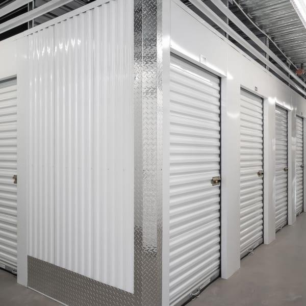 Indoor storage units at StorQuest Self Storage in Bradenton, Florida
