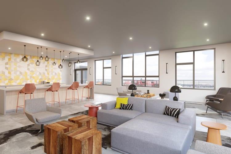 High-end open floor plan at Arthaus Apartments in Allston, Massachusetts