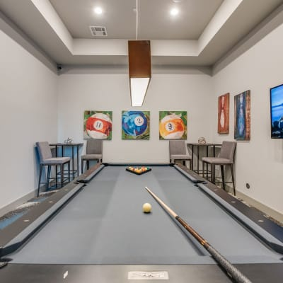 Amazing pool table at Bellrock Upper North in Haltom City, Texas