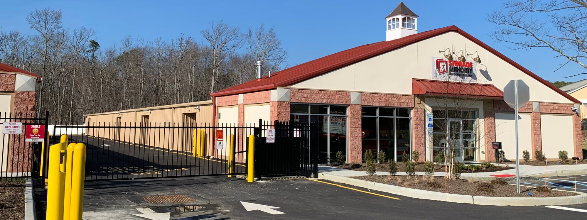 Self storage at Storage Authority Monmouth Rd in Millstone Township, New Jersey.