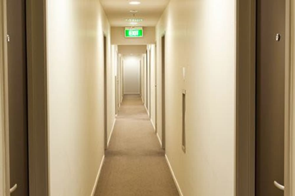 Hallway at Boylston Crossing Apartment Homes in Boston, Massachusetts