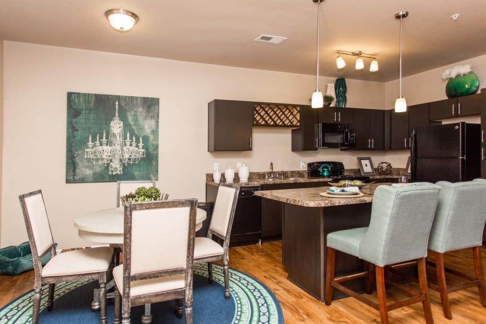 Dining and kitchen area at Springs at McDonough in McDonough, GA