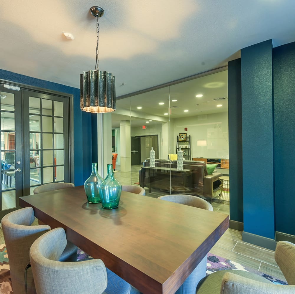 Resident conference room at The JaXon in Kingwood, Texas