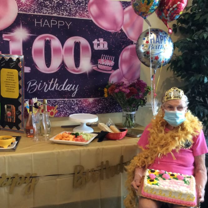 Resident 100th Birthday