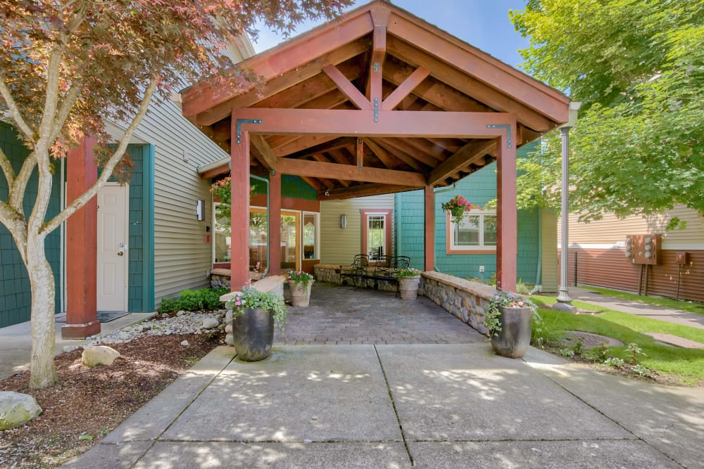 Office Entryway at Aravia Apartments in Tacoma, WA