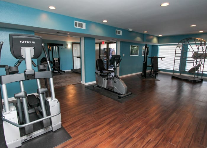 luxury fitness center at The Bluffs at Epps Bridge