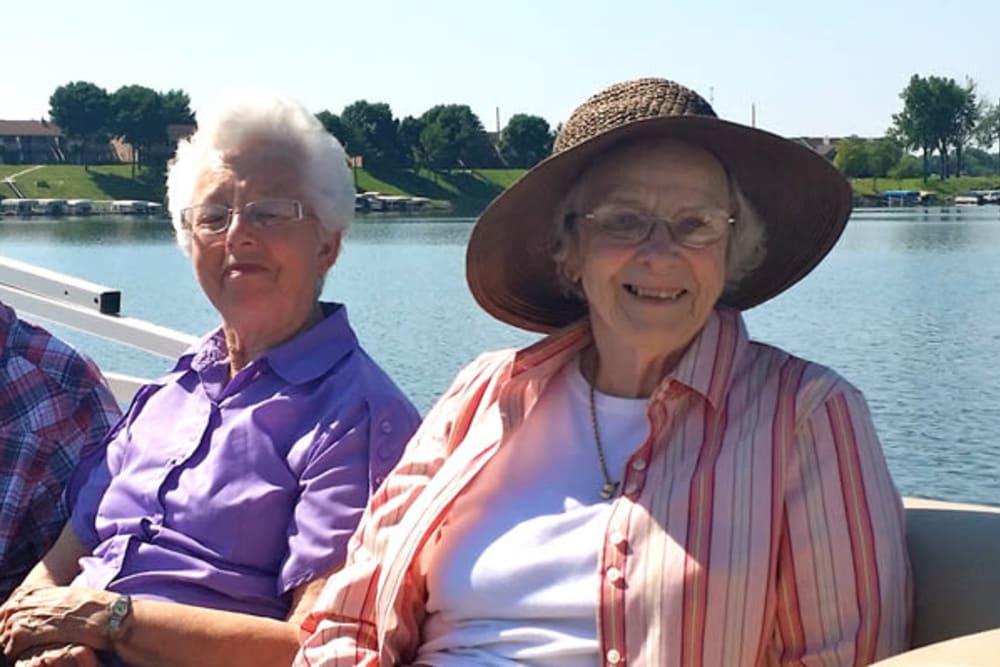 Residents enjoying outdoors near The Lakeside Village in Panora, Iowa.