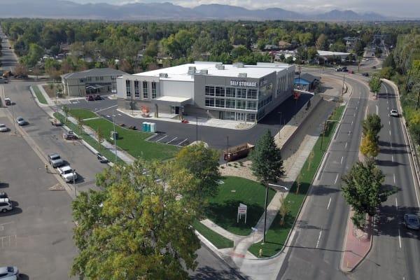 Aerial view of Edgemark Self Storage in Arvada CO
