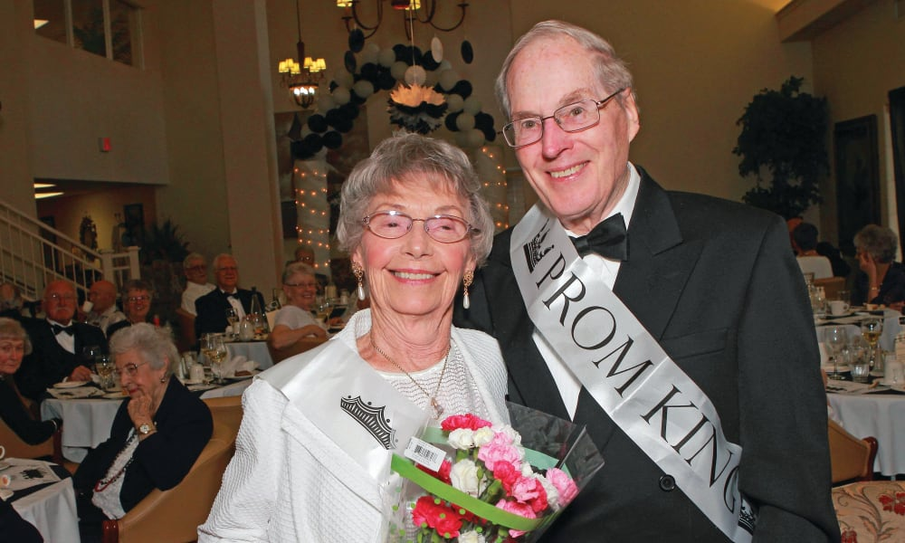 Prom night at Cedarview Gracious Retirement Living in Woodstock, Ontario